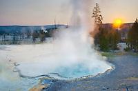 Sunrise at Surprise Pool, Yellowstone National Park