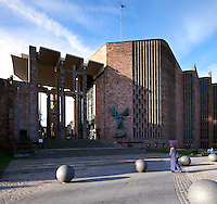 Coventry Cathedral by Basil Spence is unique in that it is tied into the warp and weft of the old Cathedral which was damaged during the 2nd world war. The interplay of space, texture, colour and circulation is second to none in a modern cathedral. Sir Basil Spence's Cathedral