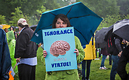 Susan Aja a metablism research form The Center for Metabolism and Obesity Research at the rally on the Natinal Mall on Earth Day before the March for Science.