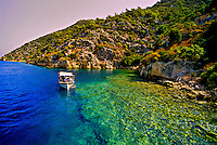 Sunken city off the island of Kekova, Kekova Sound (Turquoise Coast), Turkey