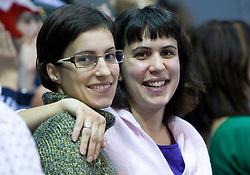 Sisters Natasa and Alenka Kejzar at 3rd day of LEN European Short Course Swimming Championships Rijeka 2008, on December 13, 2008,  in Kantrida pool, Rijeka, Croatia. (Photo by Vid Ponikvar / Sportida)