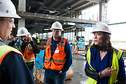 Charlotte Jones Anderson visits with her team at The Star, the new home of the Dallas Cowboys headquarters and practice facilities, in Frisco, Texas on November 30, 2015.  (Cooper Neill for The New York Times)