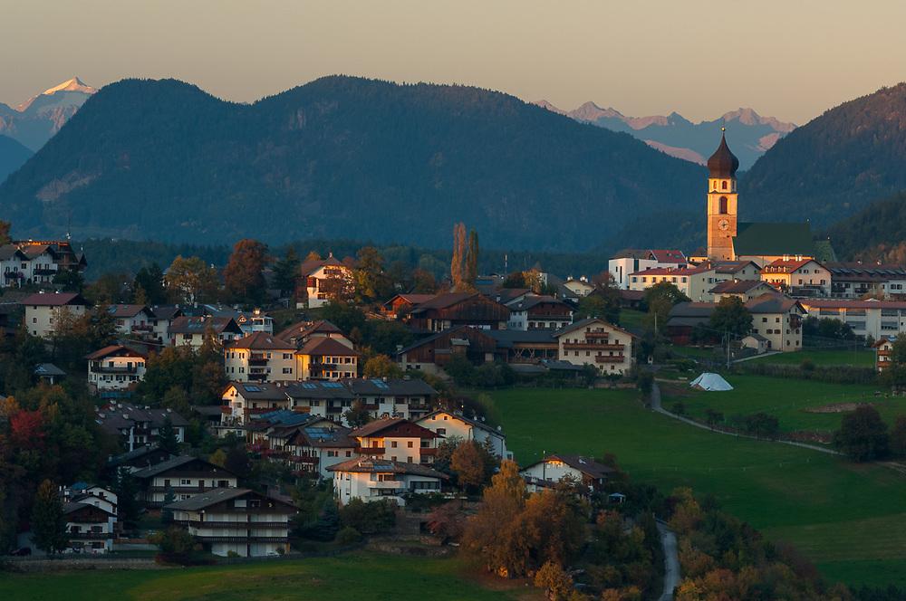 Evening light, October, Dolomite Mountains,  Province of Bolzano-Bozen, South Tyrol, Vols, Italy