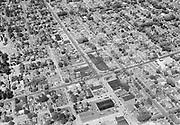 """ackroyd-03710-1. """"Shell Oil Co. Aerial Milwaukie & Bybee. Jul 3, 1952"""""""