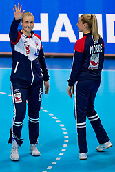 06-12-2019 JAP: Norway - Netherlands, Kumamoto<br /> Last match groep A at 24th IHF Women's Handball World Championship. / The Dutch handball players won in an exciting game of fear gegner Norway and wrote in the last group match at the World Handball  World Championship history (30-28). / Silje Katrine Waade #8 of Norway