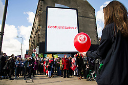 Pictured: <br /> <br /> Scottish Labour leader Kezia Dugdale today launched a new billboard poster for the final weekend of campaigning before the Scottish Parliament election on Thursday 5 May. She was joined by supporters and fellow candidates such as Sarah Boyack; Lesley Hinds and Daniel Johnston<br /> <br /> Ger Harley   EEm 30 April 2016