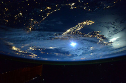 March 2, 2016 - Earth Atmosphere - Astronaut Scott Kelly took this photo of Italy from the International Space Station and posted it on Twitter saying, Day 180. Moonlight over Italy. BuonaNotte Good night from  YearInSpace. (Credit Image: ? Scott Kelly/NASA via ZUMA Wire/ZUMAPRESS.com)