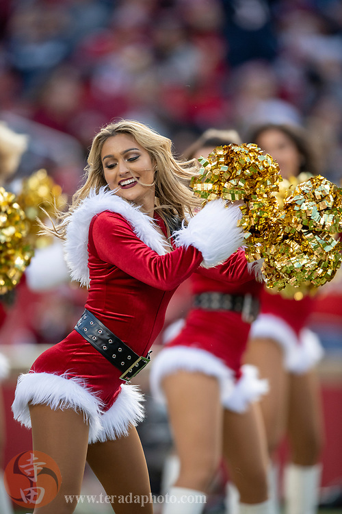 December 23, 2018; Santa Clara, CA, USA; San Francisco 49ers Gold Rush cheerleader Haley B. during the third quarter against the Chicago Bears at Levi's Stadium.