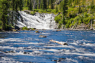A waterfall in Yellowstone National Park, Wyoming.