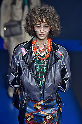 Model Marisha Urushadze walks on the runway during the Gucci Fashion Show during Milan Fashion Week Spring Summer 2018 held in Milan, Italy on September 20, 2017. (Photo by Jonas Gustavsson/Sipa USA)