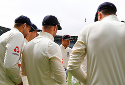 England's Joe Root talks to his players as they take the field during day four of the Ashes Test match at the Melbourne Circket Ground, Melbourne.