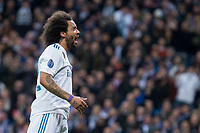 Real Madrid Marcelo during Eight Finals Champions League match between Real Madrid and PSG at Santiago Bernabeu Stadium in Madrid , Spain. February 14, 2018. (ALTERPHOTOS/Borja B.Hojas)