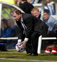 Photo: Jed Wee.<br />Hartlepool United v Bristol City. Coca Cola League 1. 15/04/2006.<br /><br />Bristol City manager Gary Johnson retrieves the ball.