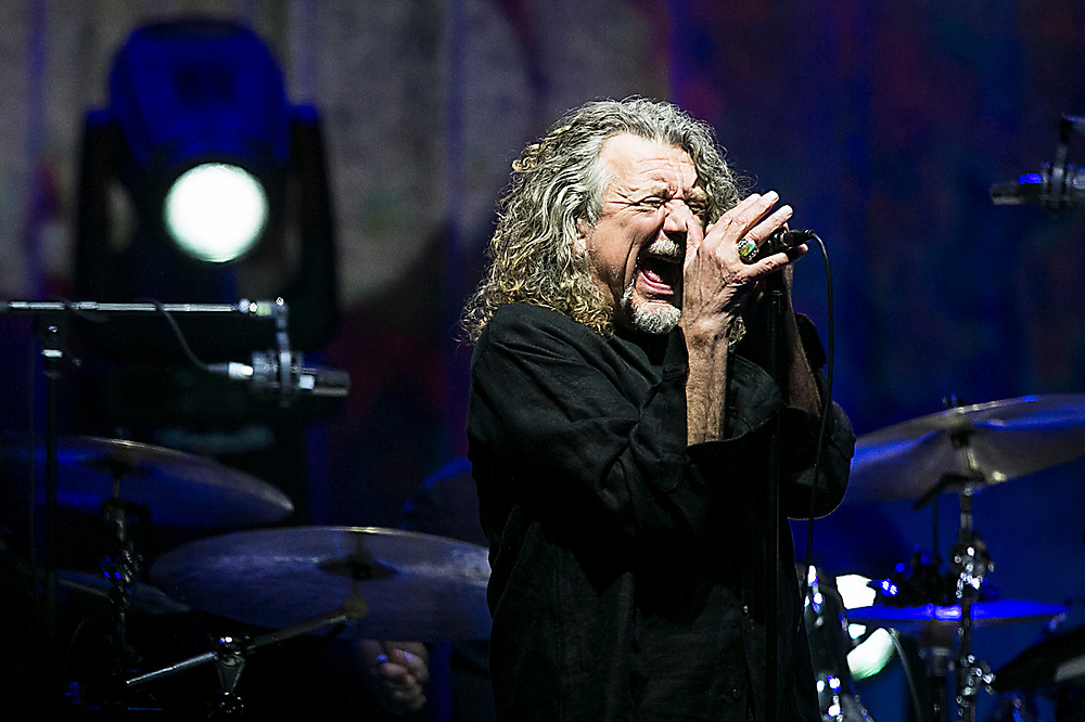 Robert Plant,best known as the lead singer and lyricist of the rock band Led Zeppelin, performs with the Sensational Space Shifters at Les Schwab Amphitheater in Bend on Thursday, Oct. 3, 2019.