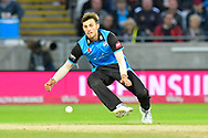 Ed Barnard of Worcestershire fields the ball during the final of the Vitality T20 Finals Day 2018 match between Worcestershire Rapids and Sussex Sharks at Edgbaston, Birmingham, United Kingdom on 15 September 2018.