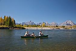 Canoe trip, Snake River, Grand Teton National Park, Jackson Hole, Wyoming
