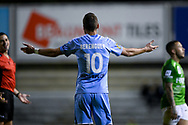 SYDNEY, AUSTRALIA - AUGUST 21: Melbourne City player Florin Berenguer (10) holds his arms out during the FFA Cup round of 16 soccer match between Marconi Stallions FC and Melbourne City FC on August 21, 2019 at Marconi Stadium in Sydney, Australia. (Photo by Speed Media/Icon Sportswire)