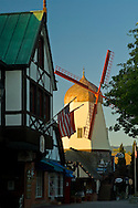 Wooden windmill in the Danish style village of Solvang, Santa Barbara County, California