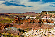 Colorful layers of rocks in Painted Desert, Arizona