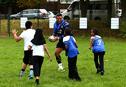 Bristol Sport and Bristol Energy launch their partnership at Millpond School with help from Siale Piutau of Bristol Rugby - Mandatory by-line: Robbie Stephenson/JMP - 09/10/2017 - SPORT - Millpond School - Bristol, England - Bristol Sport and Bristol Energy Partnership Launch