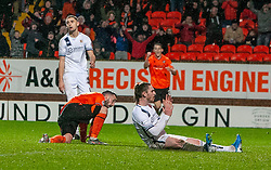 Dundee United's Nicky Clark cele scoring their first goal. Dundee United 2 v 1 Alloa Athletic, Scottish Championship game played 7/12/2019 at Dundee United's stadium Tannadice Park.