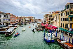 View of the Grand Canal from the Rialto Bridge (Ponte di Rialto), Venice, Italy<br /> <br /> (c) Andrew Wilson | Edinburgh Elite media