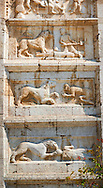 .<br /> <br /> Visit our ROMANESQUE SCULPTURE PHOTO COLLECTION for more   photos  to download or buy as prints https://funkystock.photoshelter.com/gallery/Romanesque-Statue-Sculptures-Pictures-Images/G0000ezFHYeF_xRI/C0000YpKXiAHnG2k<br /> If you prefer to buy from our ALAMY PHOTO LIBRARY  Collection visit : https://www.alamy.com/portfolio/paul-williams-funkystock/pietro-extra-moenia-spoleto.html .<br /> <br /> Visit our MEDIEVAL PHOTO COLLECTIONS for more   photos  to download or buy as prints https://funkystock.photoshelter.com/gallery-collection/Medieval-Middle-Ages-Historic-Places-Arcaeological-Sites-Pictures-Images-of/C0000B5ZA54_WD0s