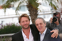 Thomas Kretschmann, Dario Argento,  at the Dario Argento Dracula film  photocall at the 65th Cannes Film Festival. Saturday 19th May 2012 in Cannes Film Festival, France.