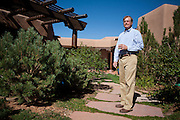 Former Merrill Lynch executive James A. Brown poses outside his Santa Fe New Mexico home on October 15, 2010...Credit: Steven St. John for The Wall Street Journal.ENRON