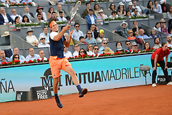 May 14, 2017 - Madrid, Spain - DOMINIC THEIM of Austria in the final of the Mutua Madrid Open tennis tournament. (Credit Image: © Christopher Levy via ZUMA Wire)