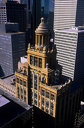 Stock photo of aerial view of Niels Esperson Building in downtown Houston,Texas