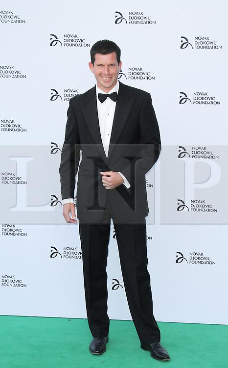 © Licensed to London News Pictures. Tim Henman at the  Novak Djokovic Foundation London gala dinner, The Roundhouse, London UK, 08 July 2013. Photo credit: Richard Goldschmidt/LNP