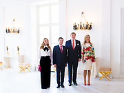 Koning Willem-Alexander en koningin Maxima ontvangen de Mexicaanse president Pena Nieto en zijn echtgenote Angelica Rivera de Pena /// King Willem-Alexander and Queen Maxima receive the Mexican president Pena Nieto and his wife Angelica Rivera de Pena<br /> <br /> Op de foto / On the photo:  Koning Willem-Alexander en koningin Maxima met de Mexicaanse president Pena Nieto en zijn echtgenote Angelica Rivera de Pena //// King Willem-Alexander and Queen Maxima with the Mexican president Pena Nieto and his wife Angelica Rivera de Pena