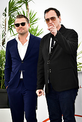 """""""Once Upon A Time In Hollywood"""" Photocall - The 72nd Annual Cannes Film Festival. 22 May 2019 Pictured: Leonardo DiCaprio and Director Quentin Tarantino. Photo credit: Daniele Cifalà / MEGA TheMegaAgency.com +1 888 505 6342"""