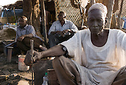 Blacksmithing workshop in the market of Abyei.