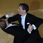 "Same-sex ballroom dancers Soren (umlaut on the ""o""), right, and Bradley Stauffer-Kruse compete in the men's standard ballroom competition at the 5 Boro Dance Challenge on May 5, 2007...The locally produced 5 Boro Dance Challenge, New York City's first major same-sex dance competition, was held at the Park Central Hotel in Manhattan from May 4-6, 2007. ."