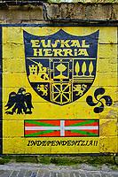 Espagne, Pays Basque, Guipuscoa, Pasai Donibane, peinture independantiste // Spain, Basque Country, Guipuscoa, Pasai Donibane, independent painting