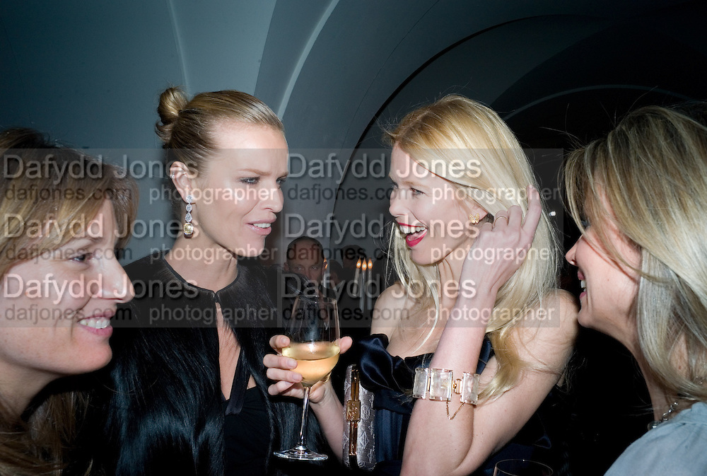 EMILY OPPENHEIMER; EVA HERZIGOVA; CLAUDIA SCHIFFER; JANE GOTTSCHALK. Chaos Point: Vivienne Westwood Gold Label Collection performance art catwalk show and auction in aid of the NSPCC. Banqueting House. London. 18 November 2008<br /> *** Local Caption *** -DO NOT ARCHIVE -Copyright Photograph by Dafydd Jones. 248 Clapham Rd. London SW9 0PZ. Tel 0207 820 0771. www.dafjones.com