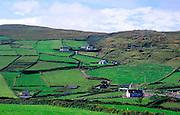 Rural farmhouses and landscape, Dursey Head, Beara peninsula, County Cork, Ireland