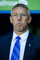 Manager Nigel Adkins (ENG) of Reading looks on - Photo mandatory by-line: Rogan Thomson/JMP - 07966 386802 - 14/04/2014 - SPORT - FOOTBALL - Madejski Stadium, Reading - Reading v Leicester City - Sky Bet Football League Championship.