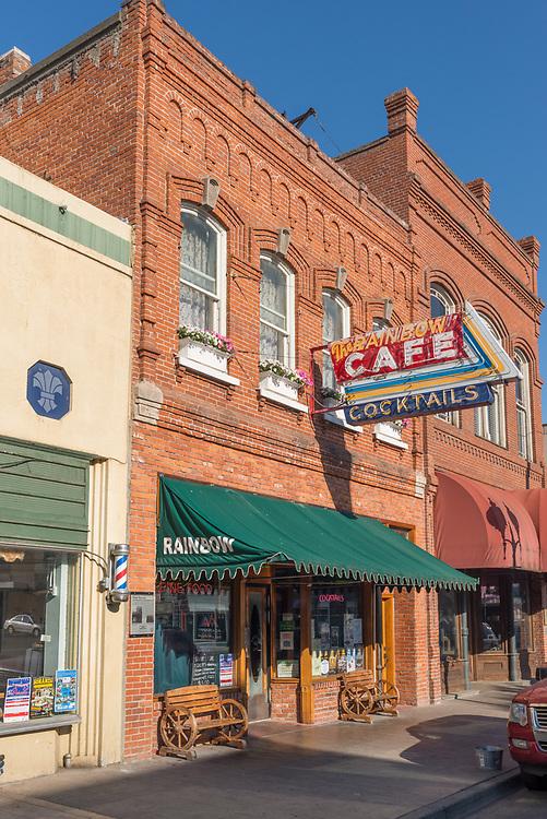 The Rainbow Cafe in downtown Pendleton, Oregon.