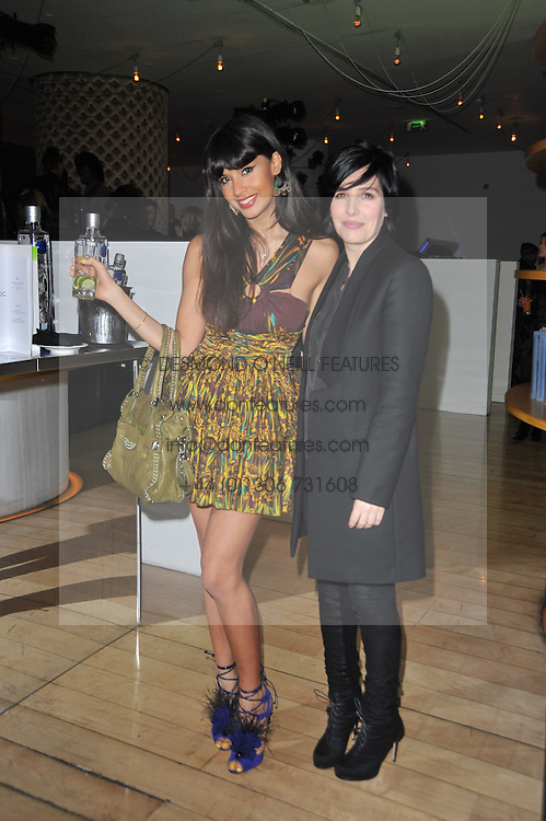 Left to right, JAMEELA JAMIL and SHARLEEN SPITERI at a Burns Night dinner in aid of cancer charity CLIC Sargent held at St.Martin's Lane Hotel, London on 25th January 2011.