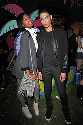 TOLULA ADEYEMI and NAT WELLER at a party to celebrate the global launch of the Iconic Brazilian lifestyle brand Havaianas Wellies range held at Selfridges, Oxford Street, London on 14th April 2011.