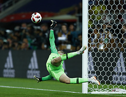 July 3, 2018 - Moscow, Russia - Round of 16 England v Colombia - FIFA World Cup Russia 2018..Jordan Pickford (England) saves the decisive penalty at Spartak Stadium in Moscow, Russia on July 3, 2018. (Credit Image: © Matteo Ciambelli/NurPhoto via ZUMA Press)