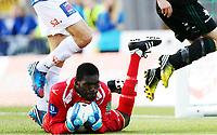 Fotball , 21. mai 2013 , Tippeligaen , Eliteserien<br /> Sarpsborg - Vålerenga 3-3<br /> Duwayne Kerr , Sarpsborg