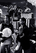 Big Audio Dynamite 1986 Medicine Show Video Shoot. Leo Williams with  Nenah Cerry and Andi Oliver