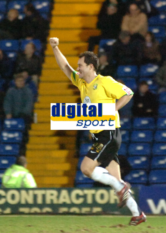 Photo: Paul Greenwood.<br /> Bury v Hereford United. Coca Cola League 2. 30/01/2007. Hereford's new signing Steve Guinan celebrates scoring on his debut