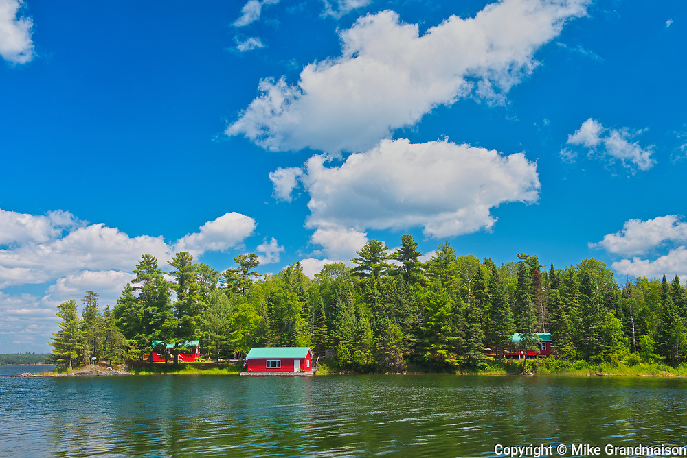 Cottages on Regina Bay on Lake of the Woods<br />Near Sioux Narrows<br />Ontario<br />Canada