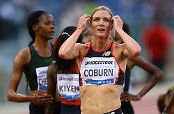 May 31, 2018 - Rome, Italy - Emma Coburn (USA) after competing in 3000m Steeplechase women during Golden Gala Iaaf Diamond League Rome 2018 at Olimpico Stadium in Rome, Italy on May 31, 2018. (Credit Image: © Matteo Ciambelli/NurPhoto via ZUMA Press)