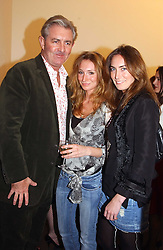 Left to right, JAMES MULLEN co-founder of Thomas Pink, CLAIRE LAMBERG and TARA FREELAND at a private view of Sculptures by Richard Hudson held at Hamiltons Gallery, 13 Carlos Place, London on 10th May 2005.<br /><br />NON EXCLUSIVE - WORLD RIGHTS